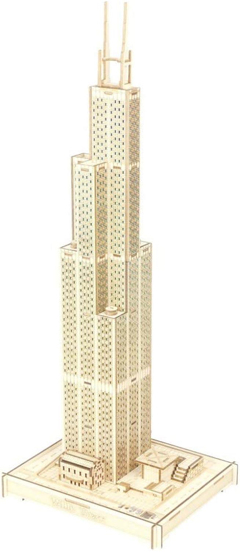 sorteos de estadio Juler Juler Juler Rompecabezas de construcción de Juguetes educativos Sears Tower Colorful Lights (Grupo B) Rompecabezas 3D PuzzleCutting,Amarillo,Un tamaño  hasta un 65% de descuento