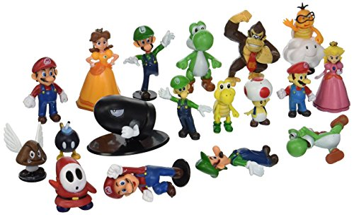 BIGOCT Super Mario Brothers Action Figures Set (18 Piece), 2