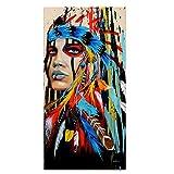 Indianerisches Indianermädchen-Wandbild auf Leinwand,