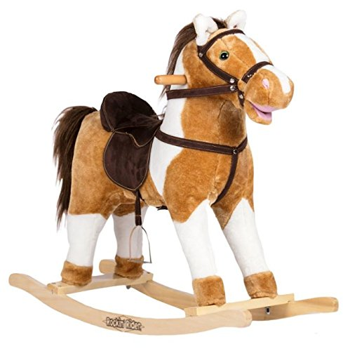 Rockin' Rider Turbo Rocking Horse Ride On, White