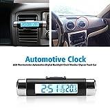 3 in 1thermometer,Fahrzeug Innenthermometer Automotive Digitaluhr Monitor Clip-on für Lkw Auto Air Vent