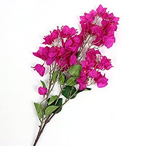 Li Hua Cat Artificial Flower Decoration Bougainvillea spectabilis Willd Silk Cloth Flowers sea Bright Your Home for Home Decor Table Decor DIY Flower Arrangement (Style 2-Purple)