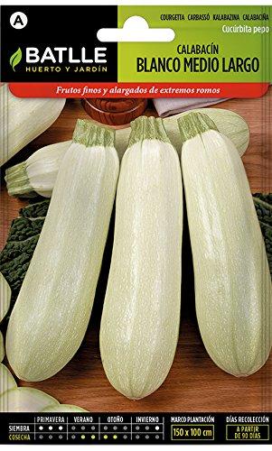 Semillas Hortícolas - Calabacín blanco medio largo - Batlle