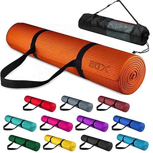 Xn8 Tappetino Yoga 6mm Di Spessore - Antiscivolo esercizio Tappetino per Palestra - Casa - Pilates - Aerobico - Fitness 183 x 63 x 0,6cm con Cinturino