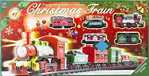 BSD Ferrocarril Ajustar eléctricamente Tren de la Navidad - Tren de Vapor,...