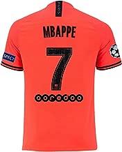agsfxa Paris Saint Germain X New 2019/2020 Season 7 MBAPPE Away Mens Soccer Jersey & League Armbands Red(S-XL)