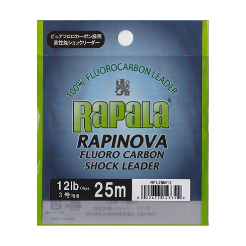 ラパラ ショックリーダー ラピノヴァ フロロカーボン 5m 3.0号 1lb クリア RFL5M1