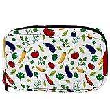 Bolsas de cosméticos para verduras, berenjena, tomate, pimiento picante, hojas prácticas, neceser...