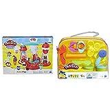 Play-Doh Super Heladeria (Hasbro E1935EU6) + Maletin Herramientas (Hasbro B1169EU4)
