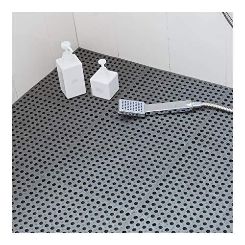 AWSAD Épissage Tapis Bain Plastique Cuisine Piscine Drainer Antidérapant, 8 Couleurs 30x30cm (Color : A- Gray, Size : 5pcs)