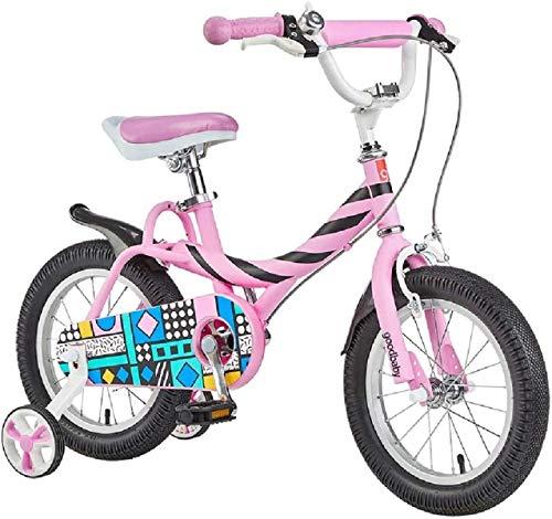 OYY Manufacture Bicicletas para niños, Bicicleta para niños 2-6 años niña Bicicleta 12-14/16 Pulgadas niña Scooter Deportes al Aire Libre Bicicleta Portátil Portátil (Color: Rosa, Tamaño: 14in)