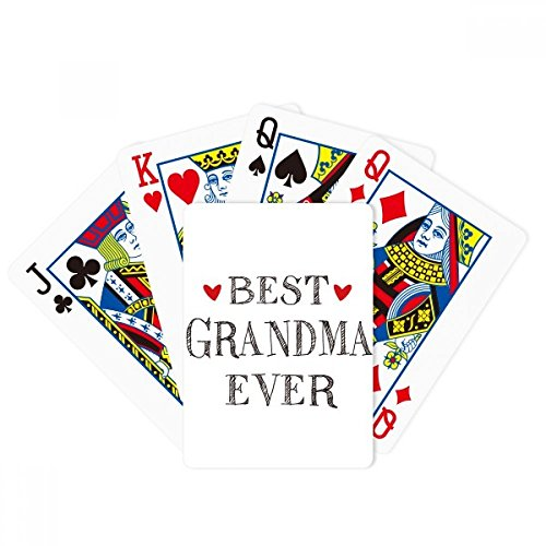DIYthinker Best Grandma Ever Quote Relatives Poker Playing Card Tabletop Board Game Gift