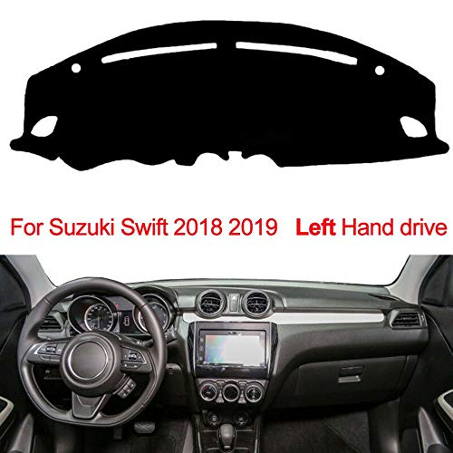 LYSHUI Anti-UV Dashboard Cover Mat Pad Dashmat Sun Shade Instrument Tapijt Beschermer Auto Styling Accessoires, Voor SUZUKI SWIFT 2018 2019