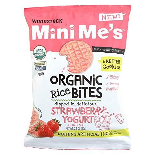 Woodstock Rice Bites - Organic - Mini Mes - Strawberry Yogurt - 2.1 oz - case of 8