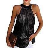Hotexy Mujer Camiseta de Tirantes con Cuello Halter Camisas