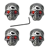 4 Pcs Metal Skull Head Volume Tone Control Knobs for Electric Guitar Bass Replacement Parts (Black)