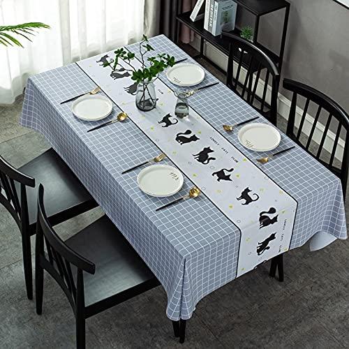 Nappe Impression Couverture de fête d'anniversaire de Style européen rectangulaire Nappe Polyvalente imperméable et résistante à l'huile A12 150x210cm