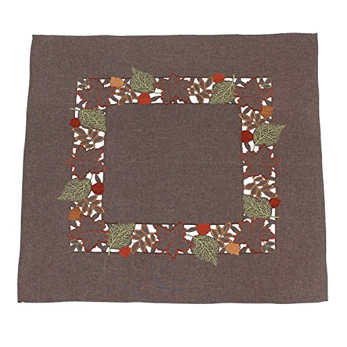 khevga Tischläufer Tischdecke Herbst braun Blätter (Tischdecke Braun)