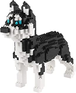 Larcele Mini Dog Building Blocks Pet Building Toy Bricks,950 Pieces KLJM-02 Husky