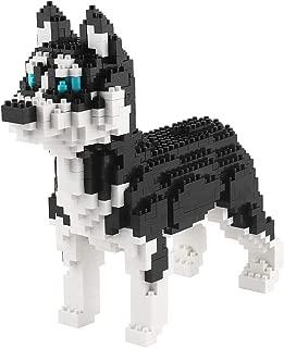 Larcele Mini Dog Building Blocks Pet Building Toy Bricks,950 Pieces KLJM-02 (Husky)