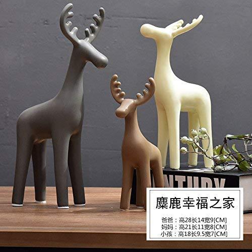 ZXL creatieve meubels Salon TV kabinet decoratie kast decoratie decoratie ambacht keramisch hert, Scandinavische witte boom