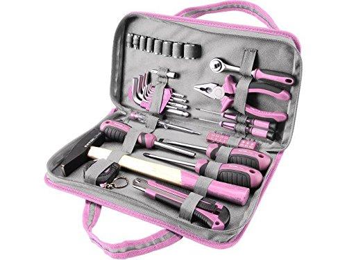 Extol Craft Werkzeugset 39 ks, CrV, rosa, 6596