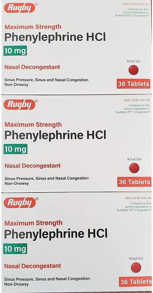 Sudogest Genuine PE Generic for Phenylephr price Nasal Sudafed Decongestant