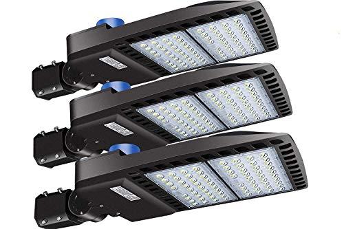 LEDMO 200W LED Parking Lot Lights Adjustable Slip Fit Mount with Dusk to Dawn Photocell Outdoor Commercial Area Lighting 26000lm 5000K IP65