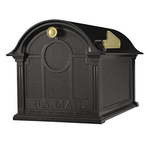 Whitehall Products Balmoral Mailbox, Black