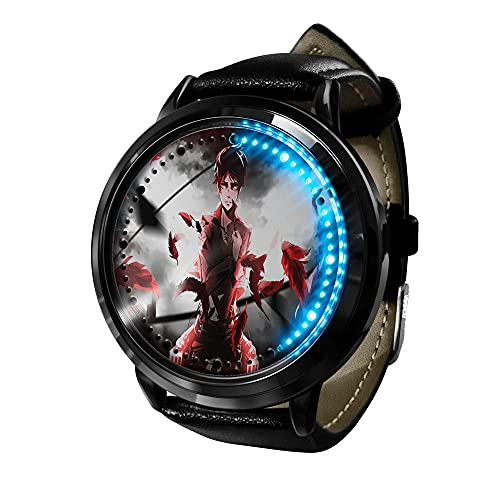 Attack on Titan Reloj Inteligente con LED Pantalla táctil Reloj de Pulsera para Niños y Niñas El Reloj de Niños Reloj con Dibujos Animados Bonitos de 309D a Prueba de Agua Regalo para Niños y Niñas