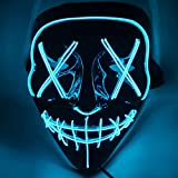 Halloween LED Light Up Mask Specially Designed for Halloween Party Cosplay LED Mask
