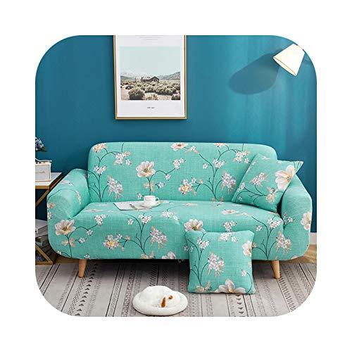 Hylshan Funda elástica para sofá de poliéster suave para sala de estar, funda de sofá de esquina, para decoración del hogar, funda de sofá