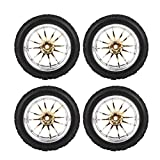 Neumáticos de Coche RC Neumático de Goma Llanta de Rueda Neumáticos de vehículos Todo Terreno de Carreras para 1/10 Escala RC Crawler Coche Todoterreno 4 unids/Set(Barro)
