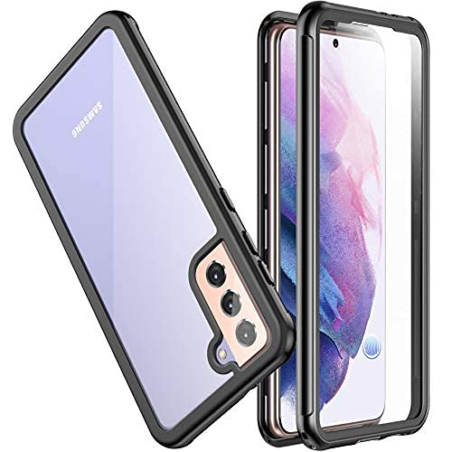 """SPIDERCASE Designed for Samsung Galaxy S21 Plus Case, Built-in Screen Protector Fingerprint Unlock Full Protection Shockproof Anti-Scratched Rugged Case for Samsung Galaxy S21 Plus 6.7"""" 2021 Released"""