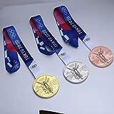 Tokyo Medal Model Materiale: (materiale in lega di zinco, strato esterno elettroplatante) Dimensione: (Diametro 8,5 cm) (spessore 1.2 cm) Peso: (310 g) Giappone Tokyo Olympics Medal Model (1 rapporto 1)