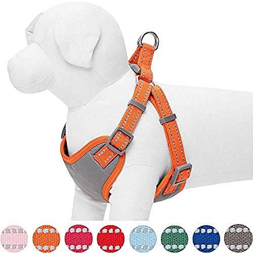 yuzhichao Hundegeschirr Weiche Farbe Reflektierende Hundegeschirrweste Kein Griff Verstellbare Arbeitsweste Outdoor-Hundeweste-S