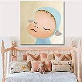 KWzEQ Quadro su Tela Cartoon Minimalista per Soggiorno Quadri Decorativi e Poster Wall art40x40cmPittura Senza Cornice