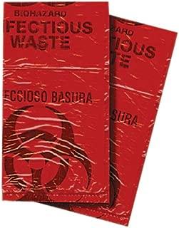 First Voice BHAZ01-50 Biohazard Waste Disposable Bag, 7-10 gallon Capacity, 24