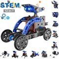 ASPPOPO Science & STEM Kit, 12-in-1 Solar Robot Building Kit Educational STEM Toy for Engineering and Learning Renewable Energy, Top STEM Toy for Boys and Girls Ages 8+ (190 Pieces)