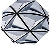 Ombrello manuale a tre pieghe Struttura architettonica bianca Ombrello pieghevole nano impermeabile Protezione solare Protezione solare e pioggia manuale