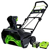 Greenworks 2600402 Pro 80V 20-Inch Cordless Snow Thrower, 2Ah Battery...