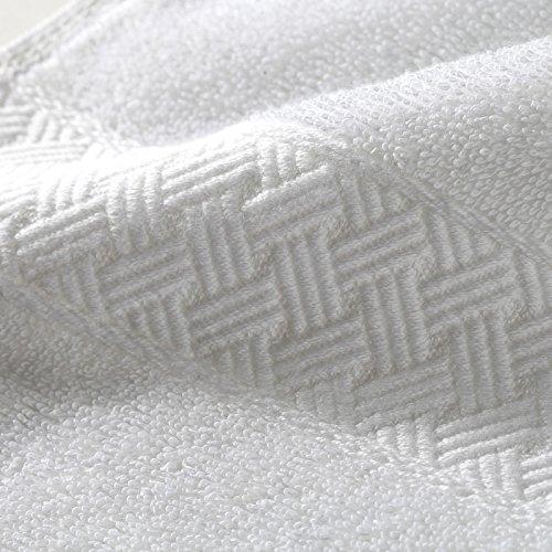 Mangeoo Star hotel, serviette de bain, serviette blanche adultes pur coton, doux, grand blanc neige,Unisexe