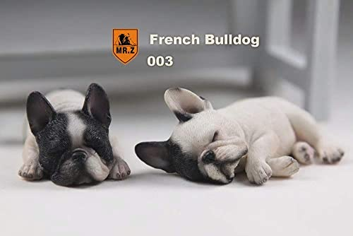 sin mínimo MINICARS Figura 1 6Perros Bouledogues francés dormidos 9x 3cm 3cm 3cm blanco negro HQ réaliste  opciones a bajo precio