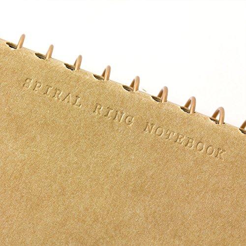 1 X Midori-spiral ring notebook camel blank notebook Photo #5