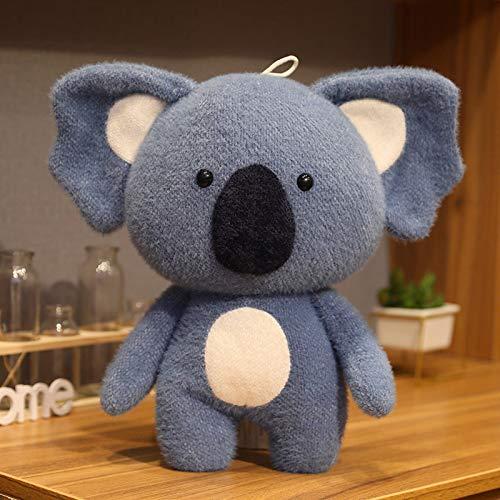 Cute Stuffed Simulation Koala Zoo Animal Plush Toy, Kids Plush Toy Pillow Decor, Koala Plush Doll for Bedroom Ornament, Kawaii Koala Hugging Pillow Stuffed Toy for Birthday Gift (15.7in, Dark Blue)