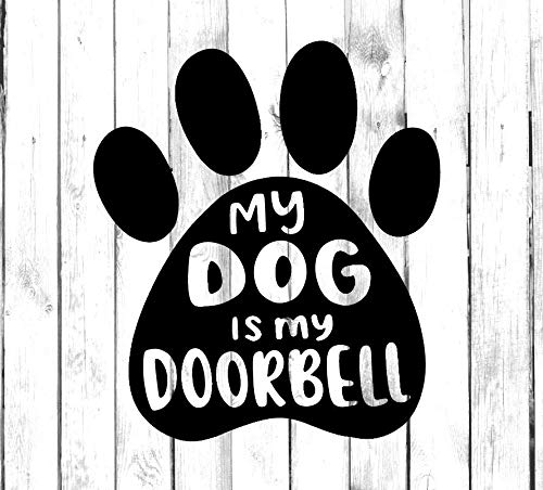 Yilooom Mijn Hond Is Mijn Deurbel - Die Gesneden Sticker - Auto Sticker Bumper Sticker Window Stickers Laptop Sticker - 4 Inches - 2 Pack 12 inches Meerkleurig