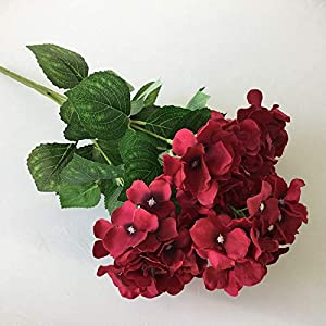 Artificial and Dried Flower 1pc/lot Big Single Fabric5 Heads Silk Hydrangea Artificial Floral Flowers Bouquet