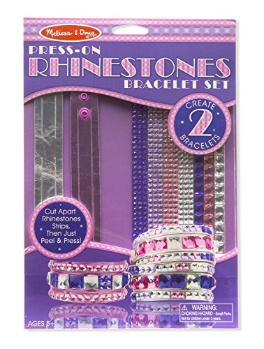 Melissa & Doug Press-On Jewels Rhinestone Bracelets Toy