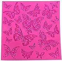 キッチンシリコーンケーキ型、フォンダンチョコレートファッジDIYメーカーの金型用耐熱皿ベーキングトレイ金型 (Color : Butterfly Shape)