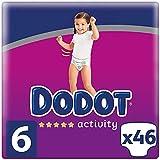 DODOT Activity Pañales Talla 6, 46 Pañales, 13kg+, Pañales Con Ajuste Resistente, 8001841630915